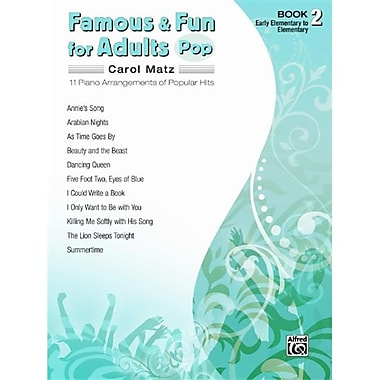 Alfred Famous and Fun for Adults- Pop- Book 2 - Music Book (AlFRD42667)