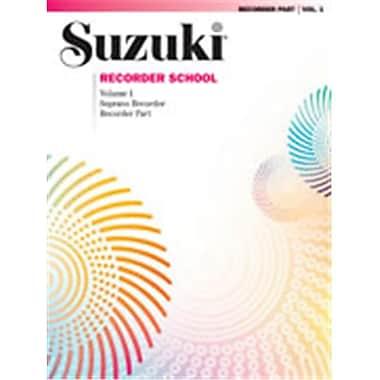 Alfred Suzuki Recorder School- Soprano Recorder Recorder Part- Volume 1 - Music Book (AlFRD45890)