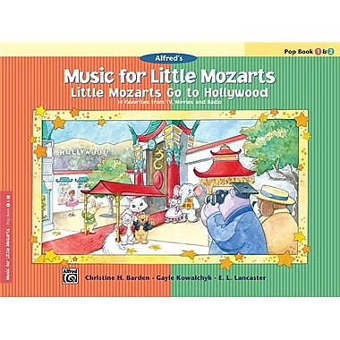 Alfred Music for little Mozarts- little Mozarts Go to Hollywood- Pop Book 1 and 2 - Music Book (AlFRD41535)