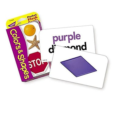 TREND ENTERPRISES INC. POCKET FlASH CARDS COlORS and SHAPES 3 x 5 56 TWO-SIDED CARDS (EDRE15168)