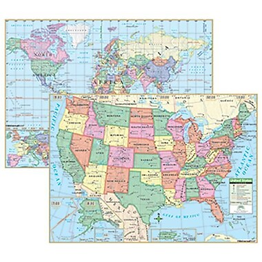 Us and World Primary Deskpad Maps 5Pk (RTl147587)