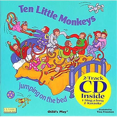 Childs Play Books Ten little Monkeys 8x8 Book With Cd (EDRE35284)