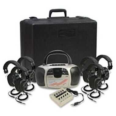 Califone International Spirit Stereo listening Center with Six Headphone (SPRCH48194)