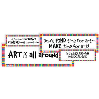 CRYSTAl PRODUCTIONS CO. WHY WE TEACH ART DISPlAY CARDS (EDRE44797)