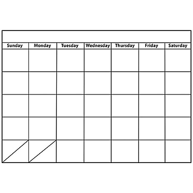 Ashley Productions Big Monthly Calendar large Magnetic Chart (EDRE51108)