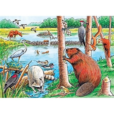 Outset Media Games The Beaver Pond Tray Puzzle 35 pcs (GC14324)