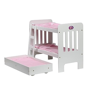 Cinderella USA Trundle Doll Bunk Beds With ladder (CUSA023)