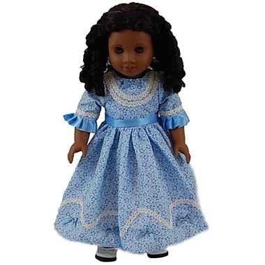 The Queens Treasures 1800s Style Sunday Dress, For 18 in. Dolls and American Girl (TQST137)