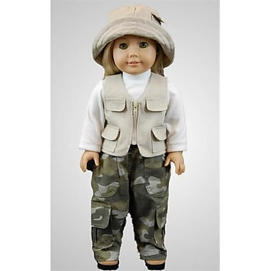 The Queens Treasures Fishing Adventure Outfit, FOR 18 in. DOllS and AMERICAN GIRl (TQST144)