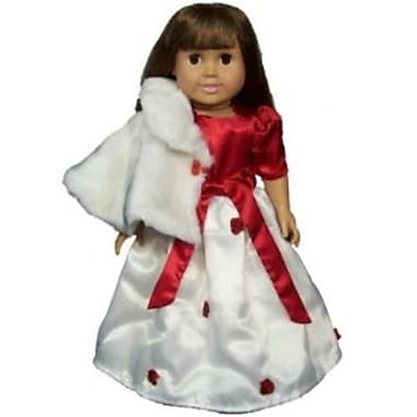 The Queens Treasure Doll Clothes for American Girl Dolls - Elegant Doll Dress and Cape - Complete Outfit (TQST011)