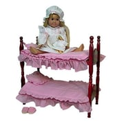 The Queens Treasure Single Doll Bed - That Can Stack Into Bunk Beds - Perfect for American Girl 18 in. Dolls (TQST054)