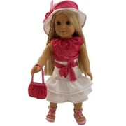 The Queens Treasures Pink and White Skirt Set, For 18 in. Dolls and American Girl (TQST121)