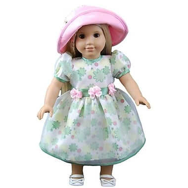 The Queens Treasures Pretty Floral Dress For 18 in. Dolls and American Girl (TQST130)