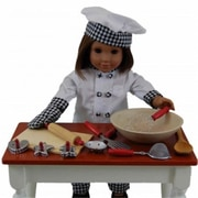 The Queens Treasures Chef Outfit and 11pc Kitchen Tool Set Fits American Girl Dolls (TQST160)