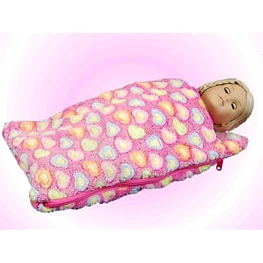 The Queens Treasures 18 in. Doll Sleeping Bag for American Girl Dolls Pink (TQST104)