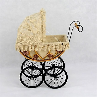 Regal Doll Carriages Eleanor Wicker Heirloom Doll Carriage Buggy Stroller Pram (RDlC006)