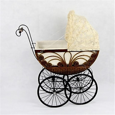 Regal Doll Carriages Caroline Wicker Heirloom Doll Carriage Buggy Stroller Pram (RDlC007)