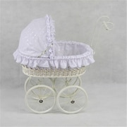Regal Doll Carriages Elizabeth Wicker Doll Carriage Buggy Stroller Pram (RDlC003)