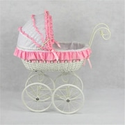 Regal Doll Carriages Jacqueline Wicker Doll Carriage Buggy Stroller Pram (RDlC002)