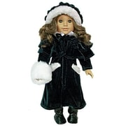 The Queens Treasure Doll Clothes for 18 in. American Girl Dolls - 1914 Style Doll Velvet Outerwear Complete Outfit (TQST003)