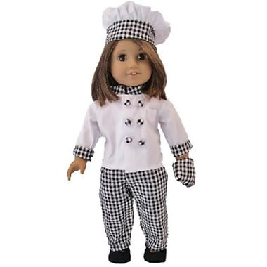 The Queens Treasure Doll Clothes for 18 in. American Girl Dolls - Complete Chefs Outfit (TQST004)