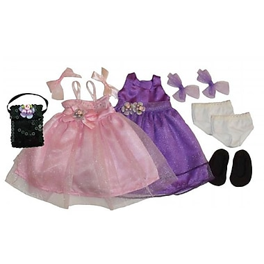 Get Ready Kids Doll Clothes, 2 Princess Dresses and Accessories (GTRDY306)
