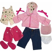 Get Ready Kids Doll Clothes, 11 Pieces Girl Set (GTRDY307)
