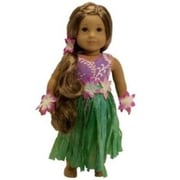 The Queens Treasure Doll Clothes for American Girl 18 Inch Dolls Hula Girl Outfit (TQST017)