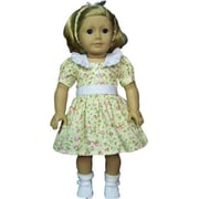 The Queens Treasure Doll Clothes for 18 in. American Girl Dolls - 1930s Pretty Cotton Doll Dress (TQST020)