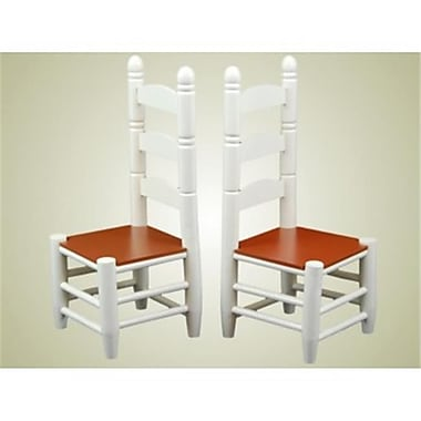 The Queens Treasures Farmhouse Collection Set of 2 ladder-back Chairs for 18 in. Dolls (TQST165)