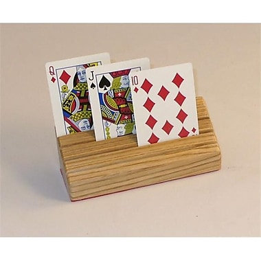 Square Root Wood Card Holder - Handcrafted Oak (WWI363)