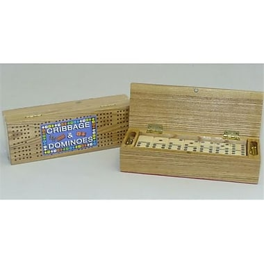 Square Root Cribbage Box with Double 6 Dominoes (WWI379)