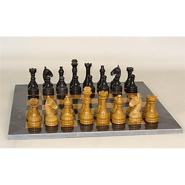 Worldwise Imports Black And Golden Marble Chess Set (WWI22603)