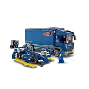 Sluban F1 Bull Racing Truck Building Blocks Construction Set with 747 Bricks (CISA198)