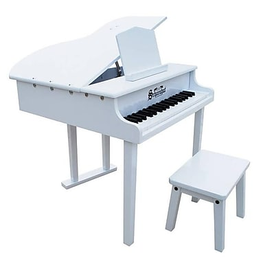 Schoenhut Toy Piano 37 key White Concert Grand with Bench (SHTP027)