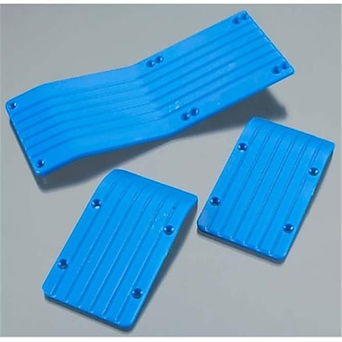 RPM Three Piece Skid-Wear Plate Set for the Traxxas T-E-Maxx long Chassis - Blue (RCHOB1773)