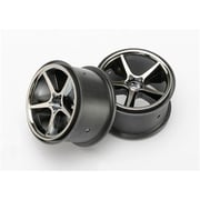 Traxxas Gemini Wheels - Black Chrome - 2 (RCHOB1466)