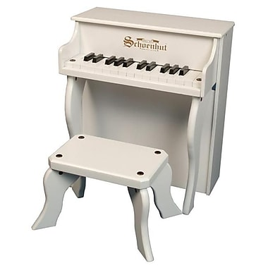 Schoenhut Toy Piano 25 key White Elite Spinet with Bench (SHTP013)