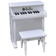 Schoenhut Toy Piano 25 key White Traditional Spinet with Bench (SHTP010)