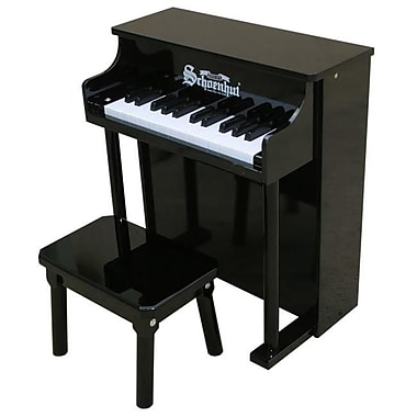 Schoenhut Toy Piano 25 key Black Traditional Spinet with Bench (SHTP008)