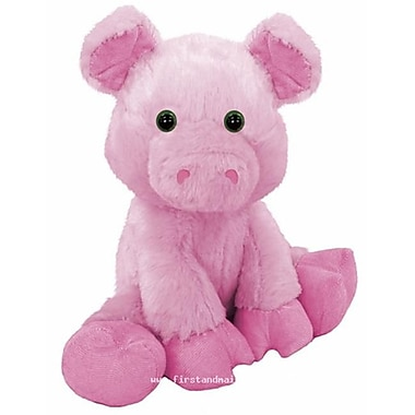 First and Main 7 in. Sitting Floppy Friends Pig Plush Toy (RTl226032)