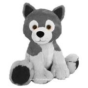 First and Main 7 in. Sitting Floppy Friends Wolf Plush Toy (RTl226033)