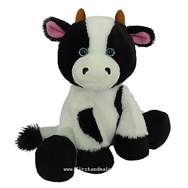 First and Main 7 in. Sitting Floppy Friends Cow Plush Toy (RTl226031)