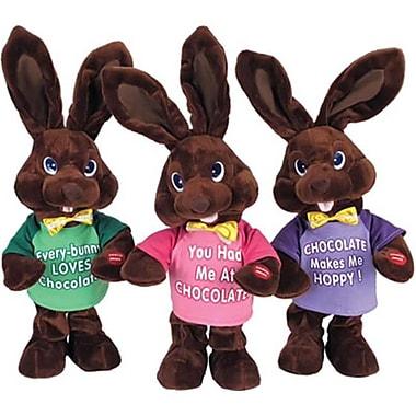 Chantilly lane 14 in. Chocolate Bunny Green T-shirt sings, I Feel Good (RTl319672)