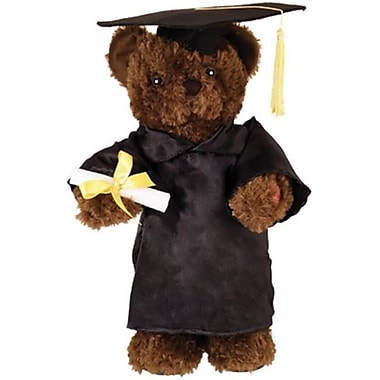 Chantilly lane 14 in. Dancing Grad Bear sings, I Feel Good (RTl319683)