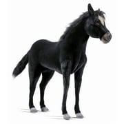 Hansa Toys Ride-On Black Pony Horse Plush Stuffed Animal (HANS027)