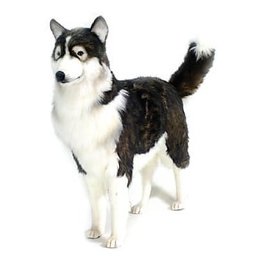 Hansa Toys life Size Husky Dog - Black and Beige (HANS038)