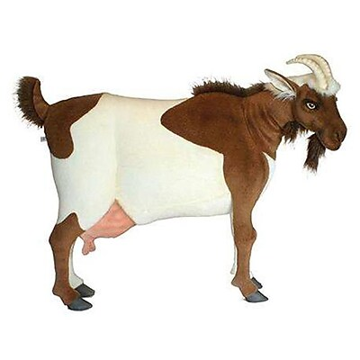 Hansa Toys life Size Male Goat - Brown and White (HANS034) 2628533