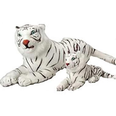 US Toy Company Jumbo Realistic White Tiger (2 Packs Of 1)