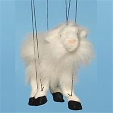 Sunny Toys 16 In. Baby Goat - White, Marionette Puppet (SNTY757)